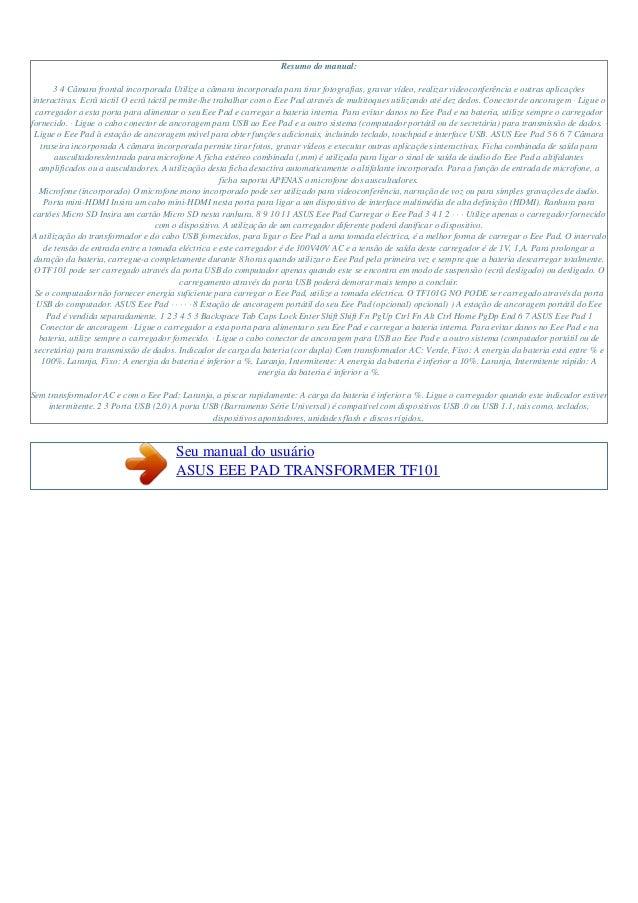 Manual do-usuário-asus-eee pad transformer tf101-p