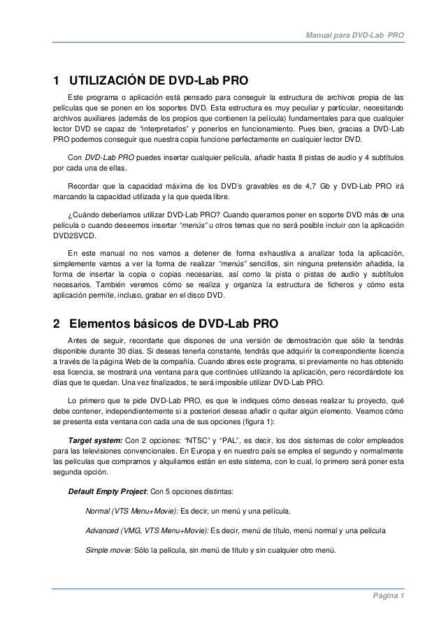 Manual dvd lab-pro
