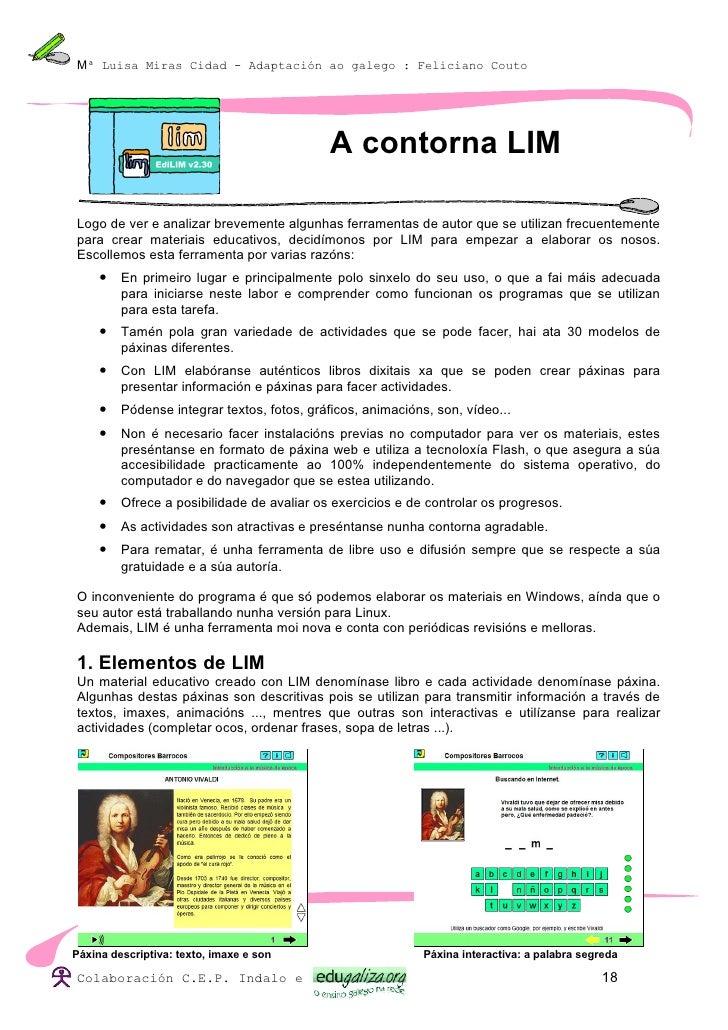 Mª Luisa Miras Cidad - Adaptación ao galego : Feliciano Couto                                                 A contorna L...