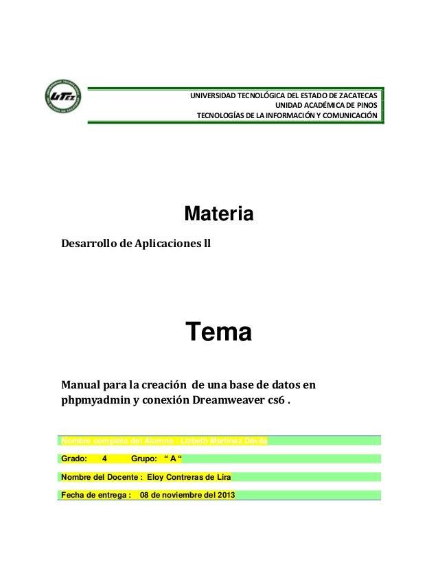 UNIVERSIDAD TECNOLÓGICA DEL ESTADO DE ZACATECAS UNIDAD ACADÉMICA DE PINOS TECNOLOGÍAS DE LA INFORMACIÓN Y COMUNICACIÓN  Ma...