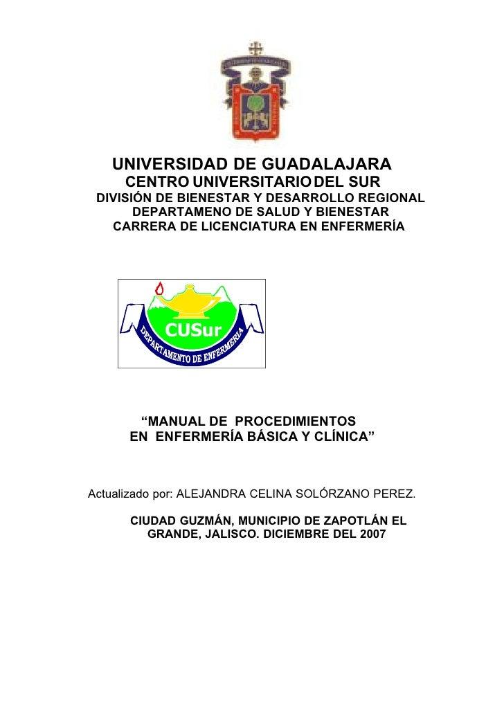 Procedimientos, Aplicaciones de Enfermeria ENFA