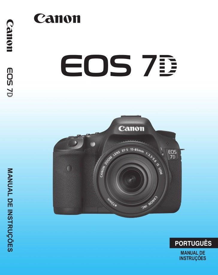 manual eos 7d rh pt slideshare net Canon PowerShot manual da 7d em portugues