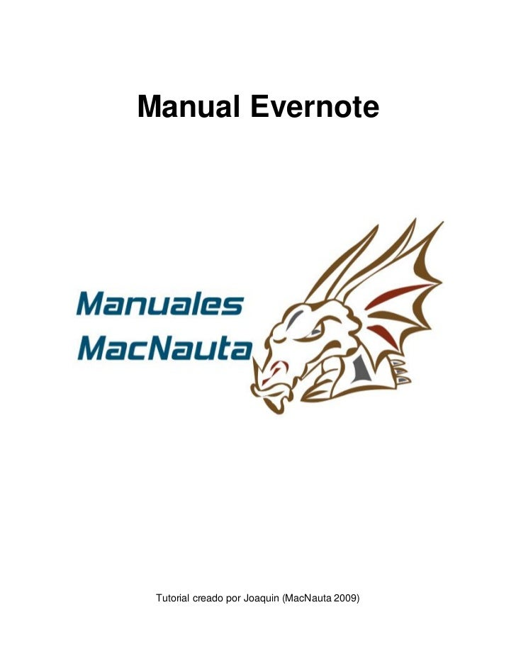 Manual Evernote      Tutorial creado por Joaquin (MacNauta 2009)