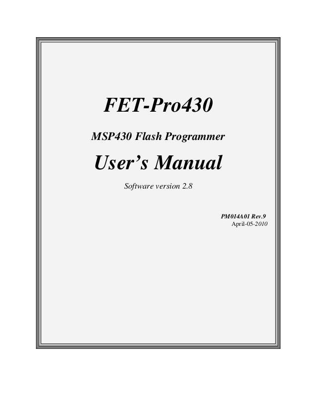 Manual fet-pro430