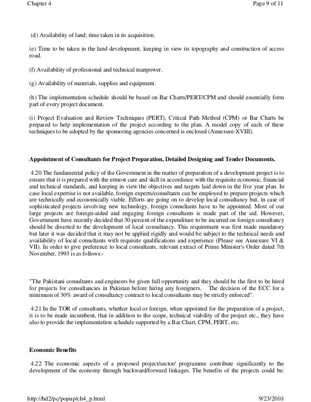 Manual For Development Projects, Planning Commission Pakistan, Develo…