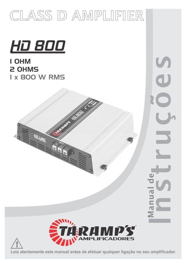 Manual Módulo Amplificador Taramps HD 800