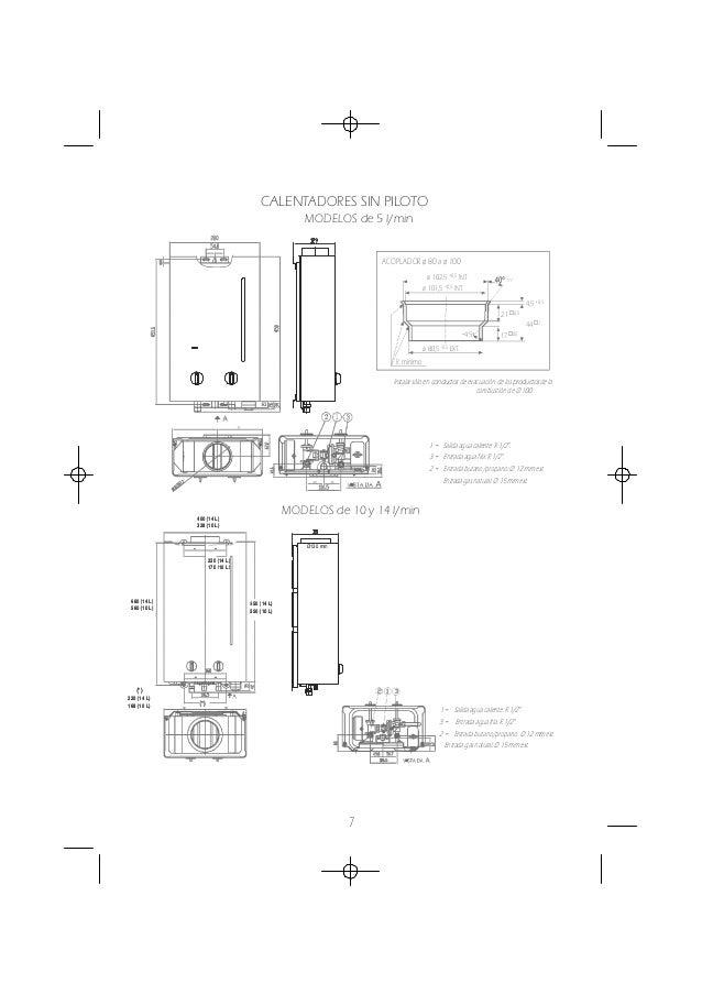 Manual instrucciones calentadores a gas Cointra optima cob