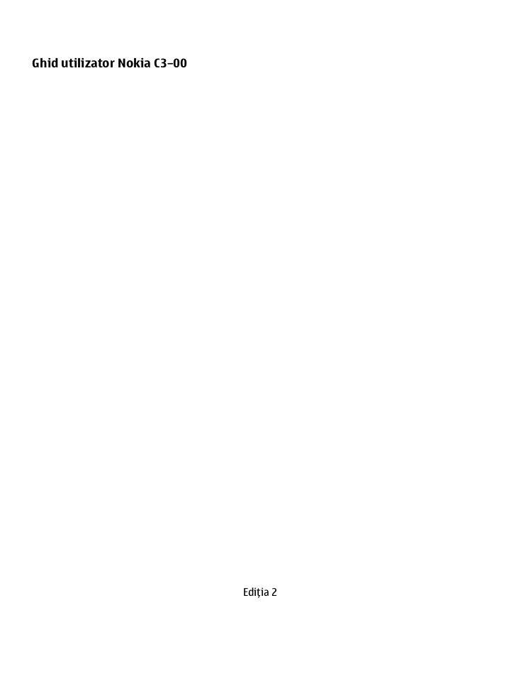 Ghid utilizator Nokia C3–00                              Ediţia 2