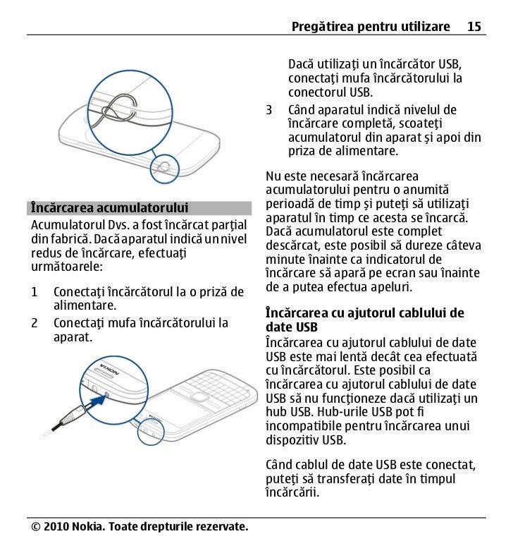 manual utilizare nokia e5