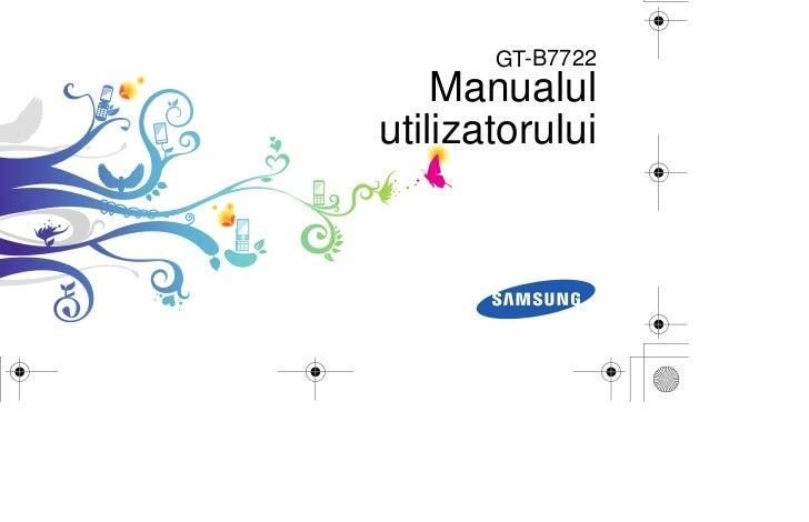 GT-B7722    Manualulutilizatorului