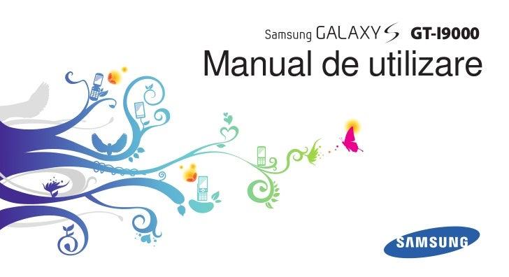 GT-I9000Manual de utilizare