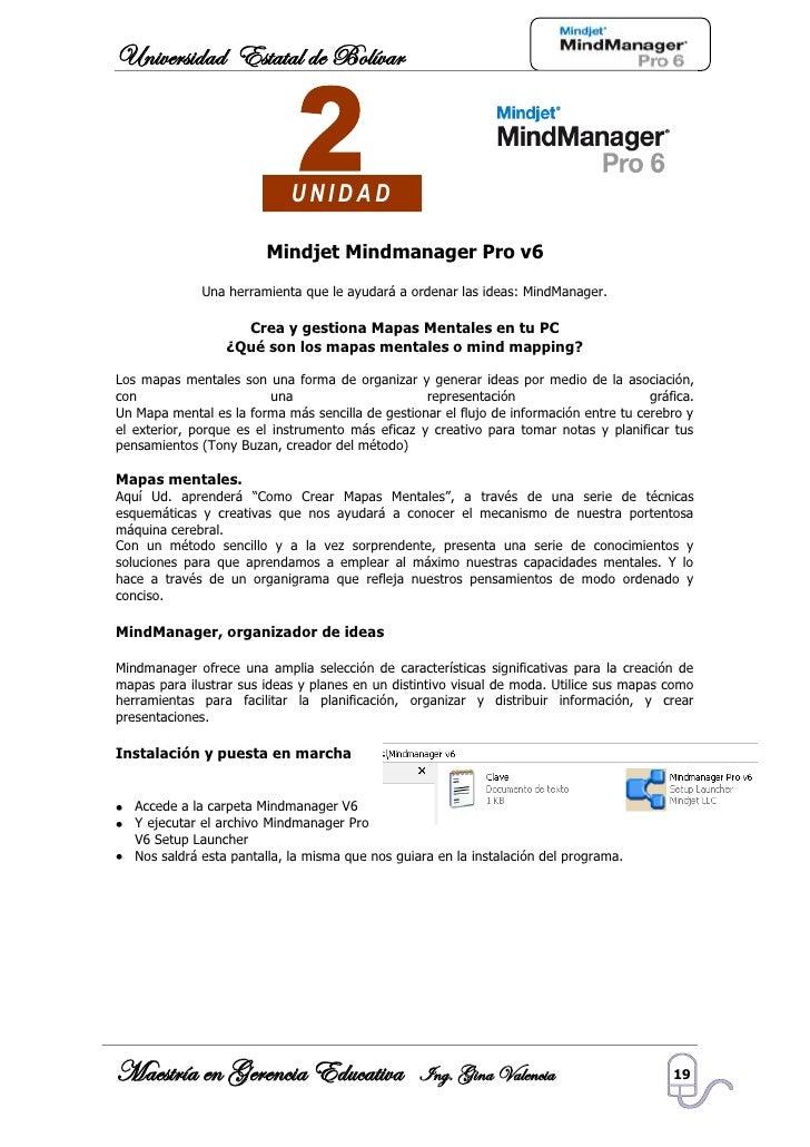 Universidad Estatal de Bolívar                                 UNIDAD                           Mindjet Mindmanager Pro v6...
