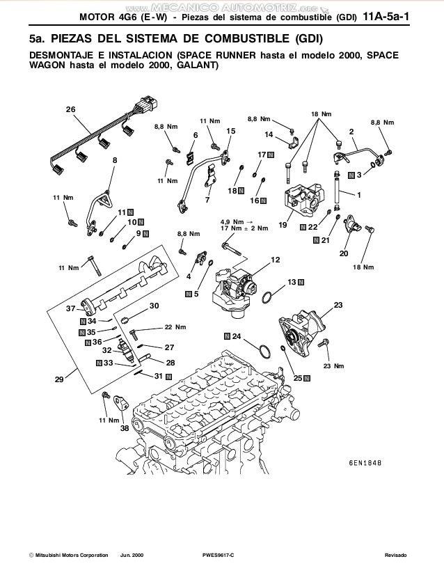 Manual motor-sirius-4g6-mitsubishi-especificaciones