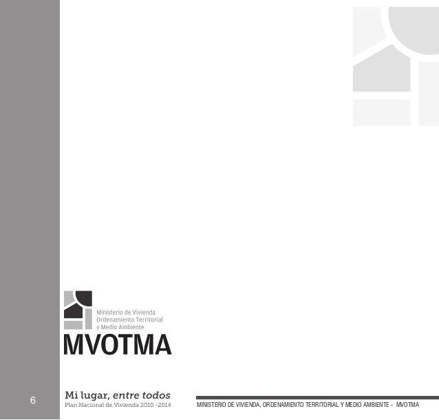 ministerio de vivienda territorial y medio ambiente mvotma
