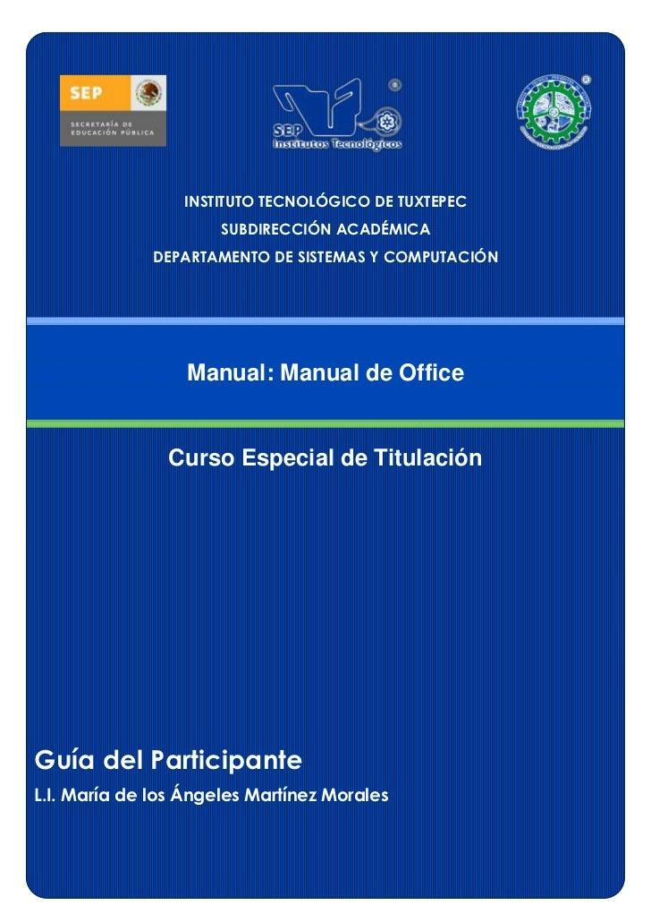 INSTITUTO TECNOLÓGICO DE TUXTEPEC                      SUBDIRECCIÓN ACADÉMICA              DEPARTAMENTO DE SISTEMAS Y COMP...