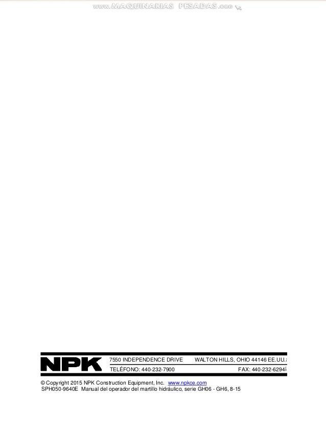 Manual operador-martillo-hidraulico-serie-gh-npk