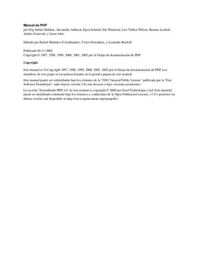 Manual de PHPpor Stig Sæther Bakken, Alexander Aulbach, Egon Schmid, Jim Winstead, Lars Torben Wilson, Rasmus Lerdorf,Andr...