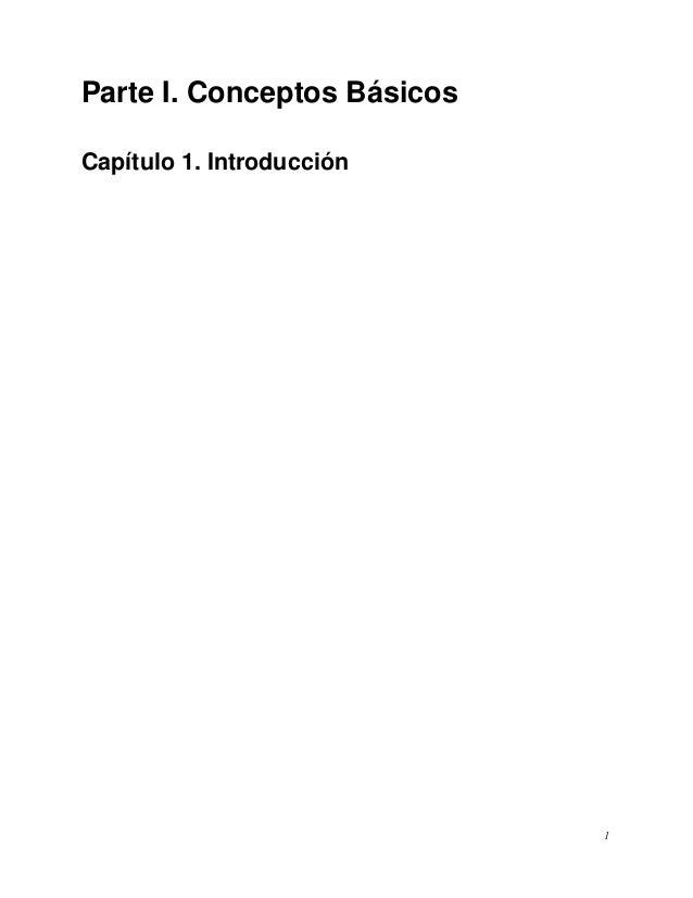 Parte I. Conceptos BásicosCapítulo 1. Introducción1