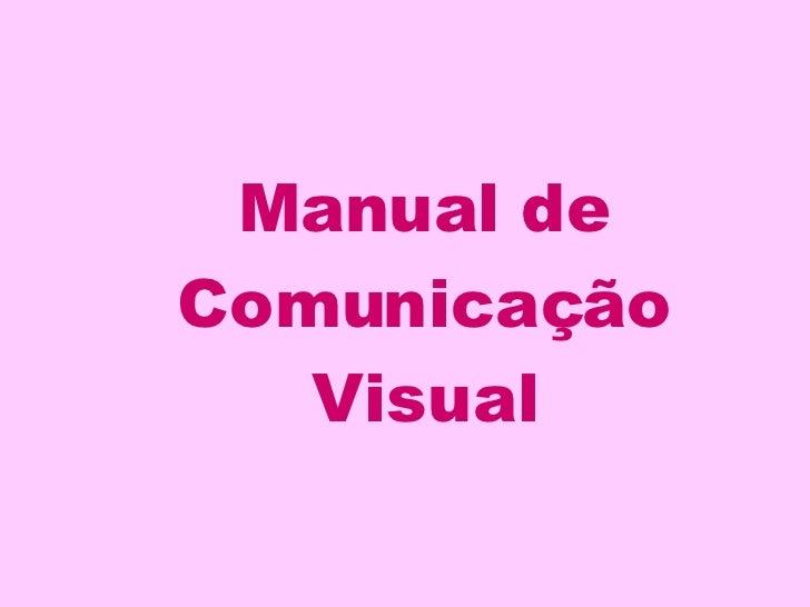 Manual de Comunicação Visual