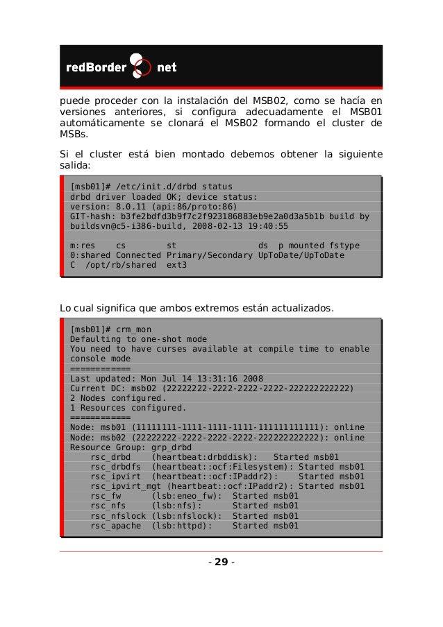 rsc_xinetd (lsb:xinetd): Started msb01 rsc_dhcp (lsb:dhcpd): Started msb01 rsc_snmptrapd (lsb:snmptrapd): Started msb01 rs...