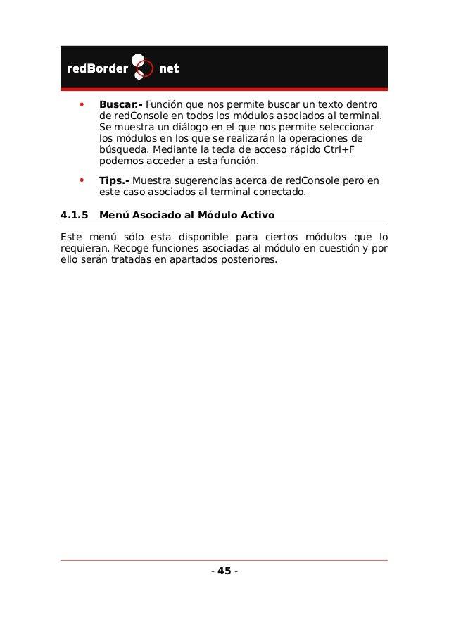 5 Módulos principales Los módulos principales son los incluidos en un terminal estándar, aunque no siempre todos están act...