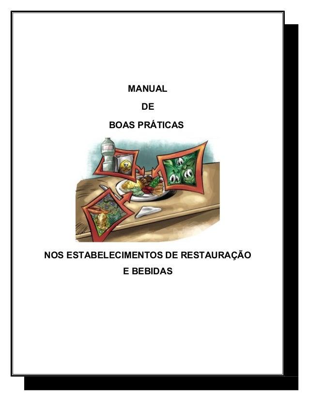 Manual de boas pr ticas nos estabelecimentos de for Manual de restaurante pdf
