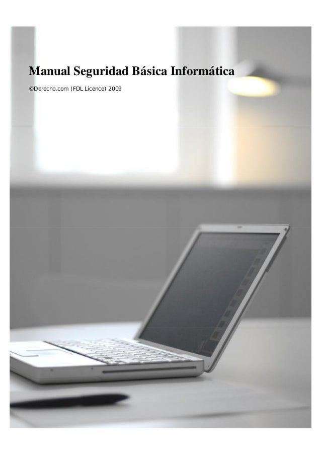 Manual Seguridad Básica Informática ©Derecho.com (FDL Licence) 2009