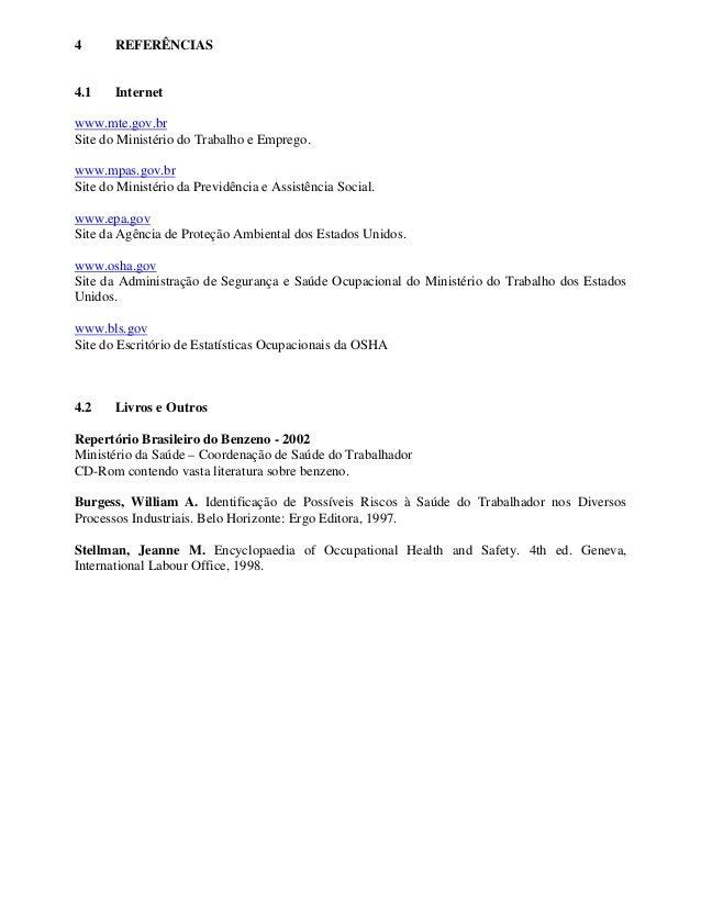 4 REFERÊNCIAS 4.1 Internet www.mte.gov.br Site do Ministério do Trabalho e Emprego. www.mpas.gov.br Site do Ministério da ...