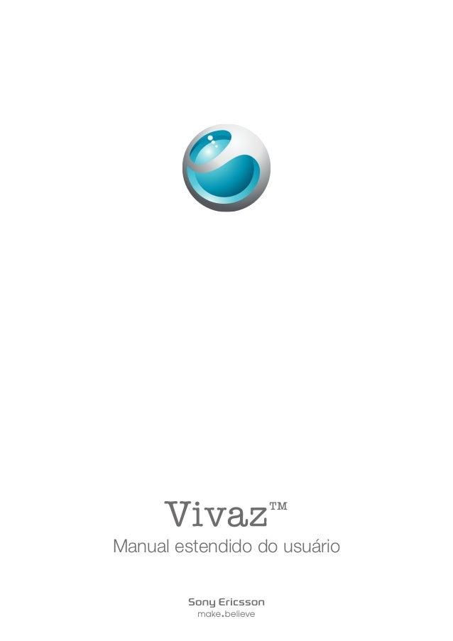 Vivaz™ Manual estendido do usuário