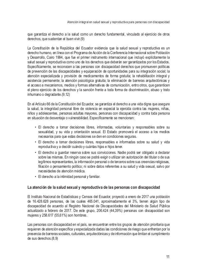 Atención integral en salud sexual y reproductiva para personas con discapacidad 11 que garantiza el derecho a la salud com...
