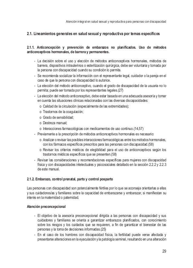 Atención integral en salud sexual y reproductiva para personas con discapacidad 29 2.1. Lineamientos generales en salud se...