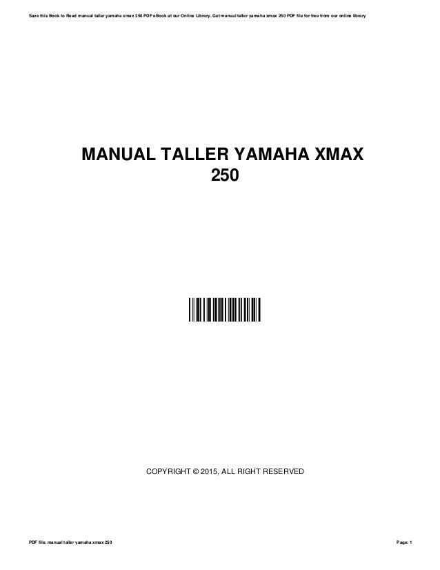 Manual taller-yamaha-xmax-250