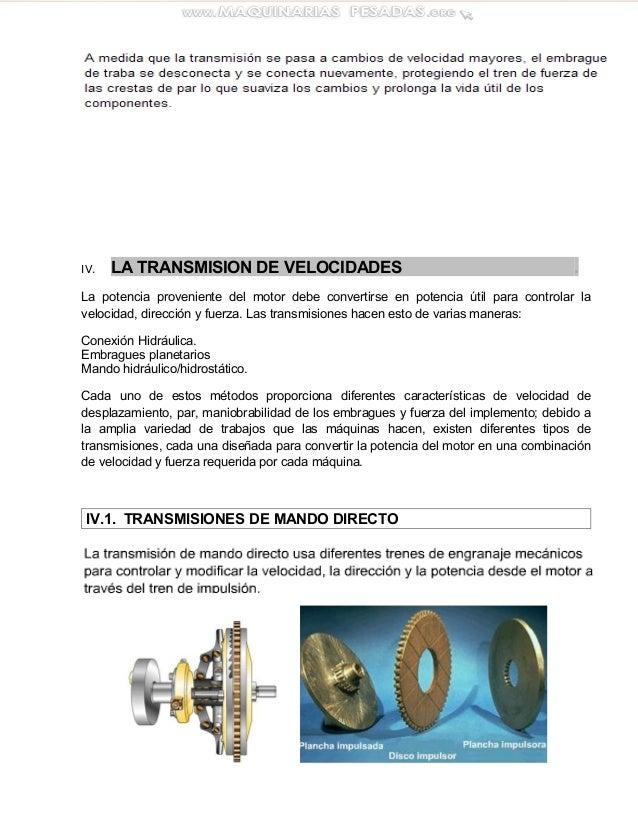 Tipos de transmisiones para maquinaria pesada