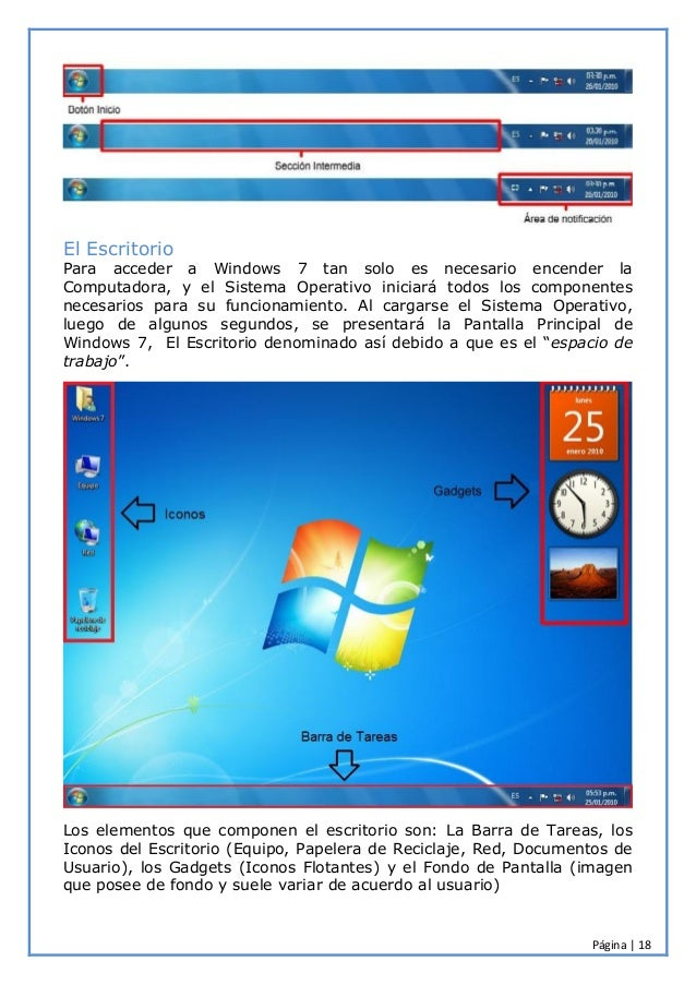 Manual windows 7 for Que es el fondo de escritorio