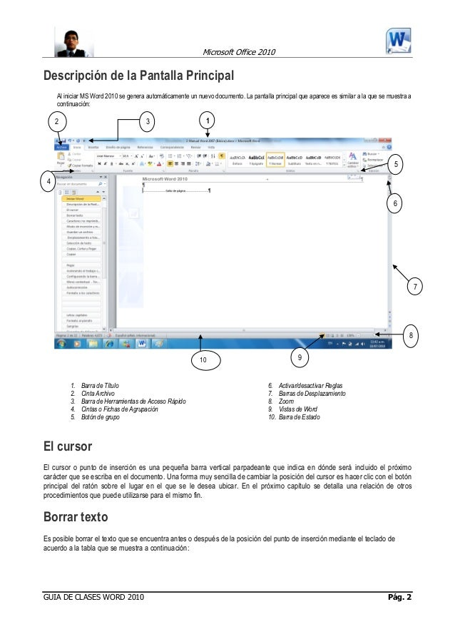 Manual basico word 2010 word 2010 pg 1 2 ccuart Images