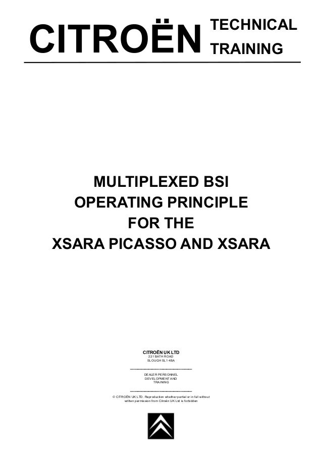 Manual xsara-and-xsara-picasso-bsi-operating-principles