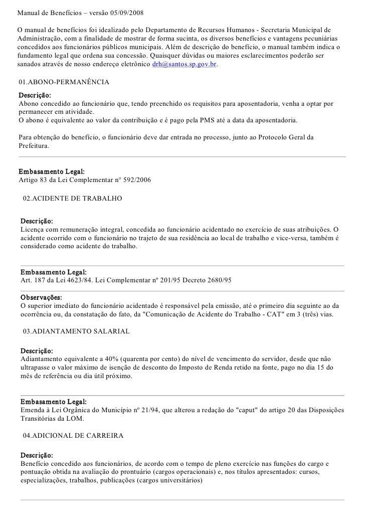 ManualdeBenefícios–versão05/09/2008  OmanualdebenefíciosfoiidealizadopeloDepartamentodeRecursosHumanosS...