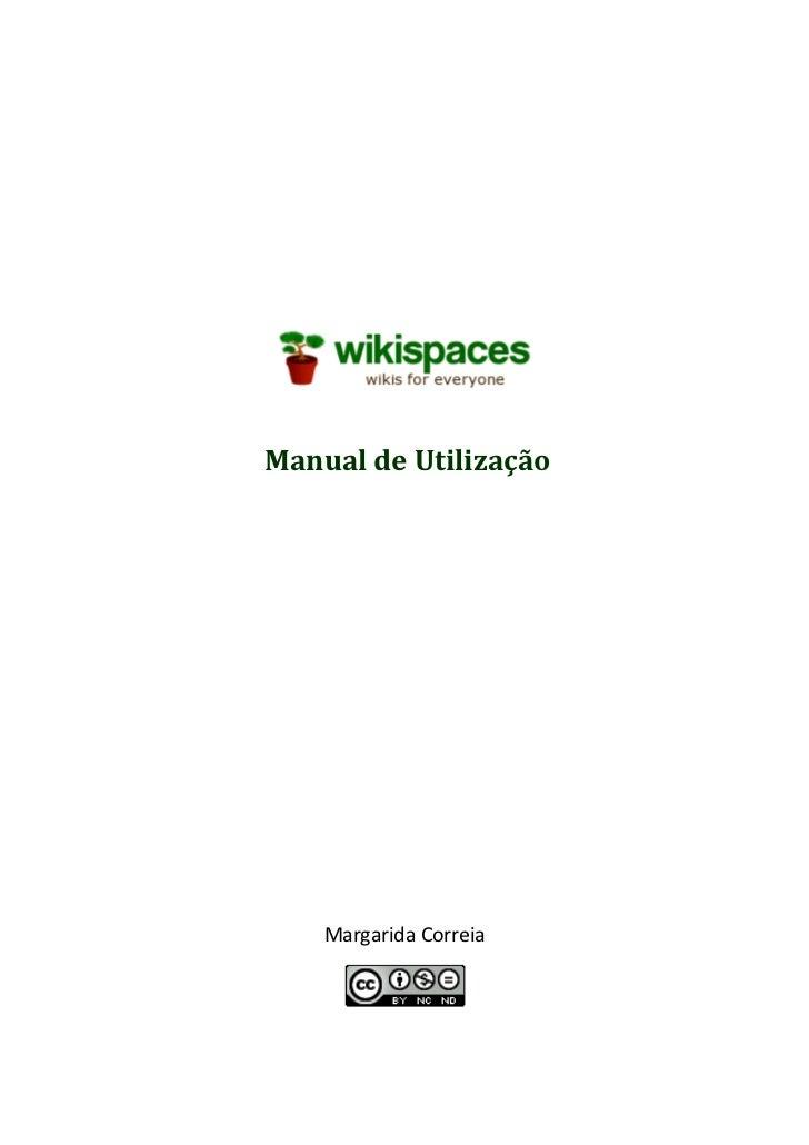Manual de Utilização    Margarida Correia