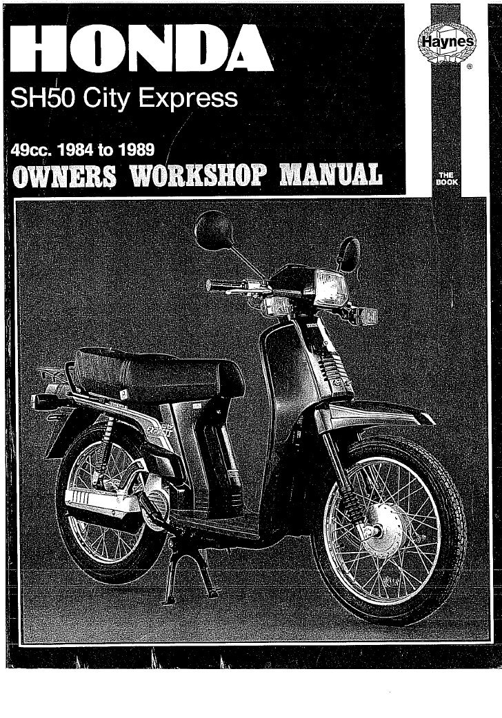 Honda Scoopy SH50 manual 1 of 6 - PDF