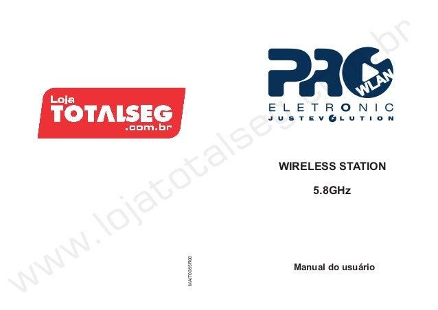 WLANWIRELESS STATIONManual do usuárioMAIT0085R005.8GHz