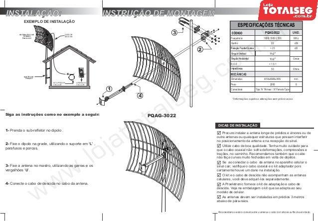 Manual do Usuário da Antena de Celular Alto Ganho TRI BAND
