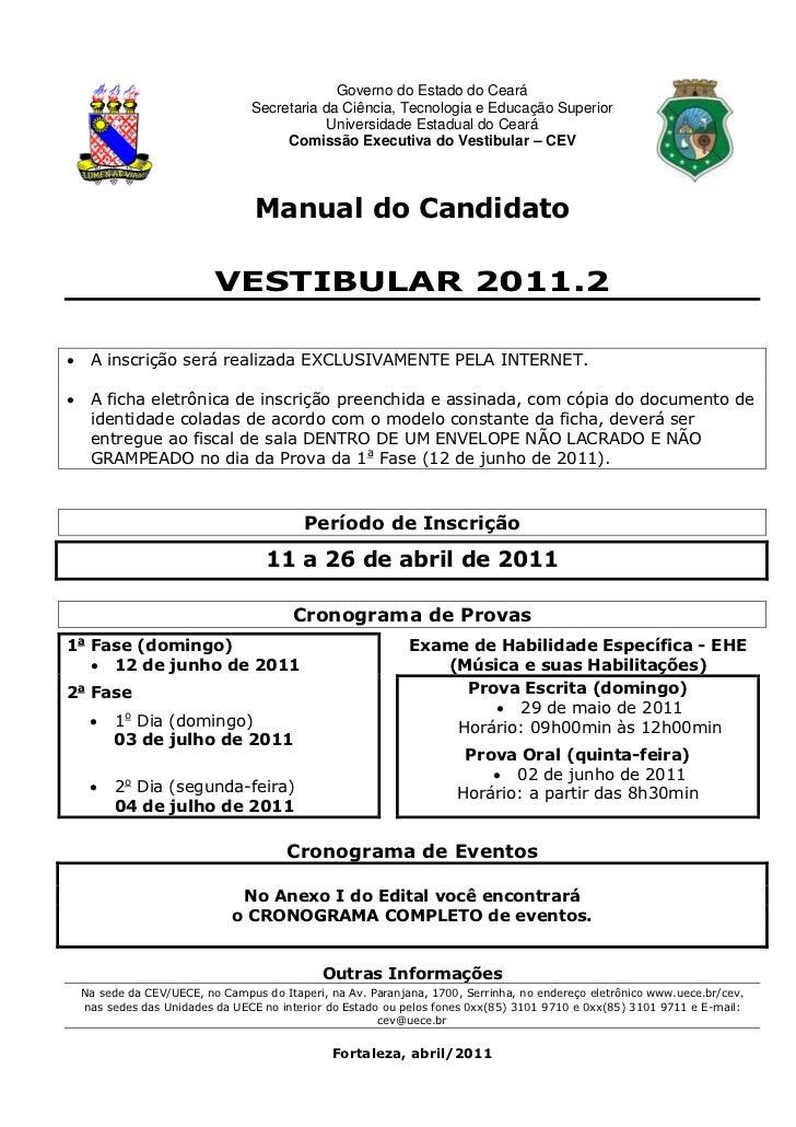 Governo do Estado do Ceará                                  Secretaria da Ciência, Tecnologia e Educação Superior         ...