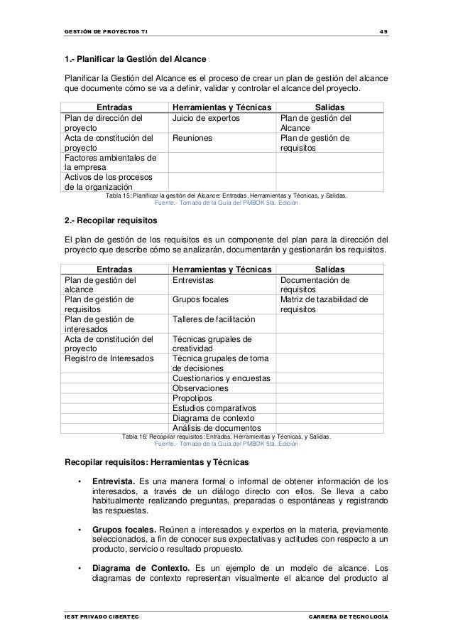 Manual de Gestión de Proyectos TI