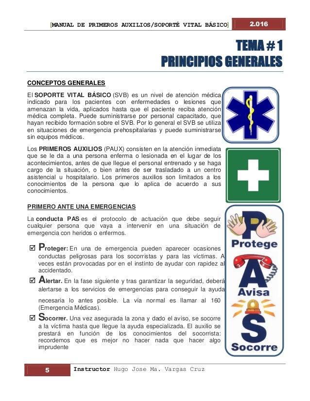 0432e93daa2 Manual 2016 Primeros Auxilios