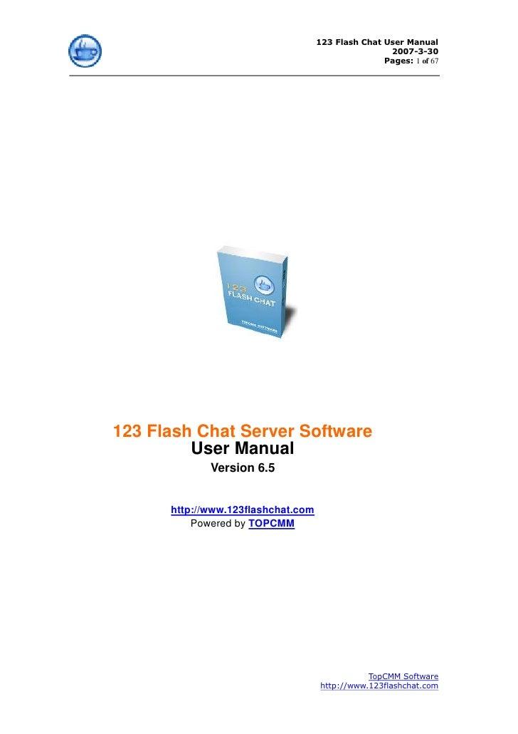 123 Flash Chat User Manual                                                     2007-3-30                                  ...
