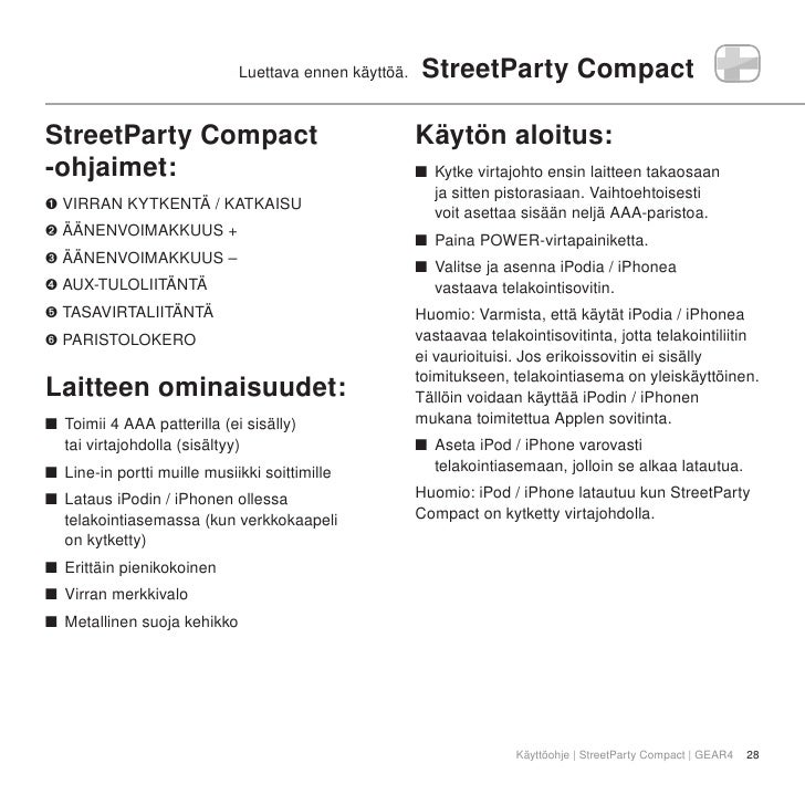 StreetParty Compact Manual