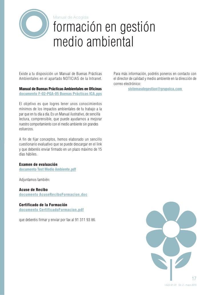 Manual acogida ica madrid mayo 2010 for Oficina gestion ica