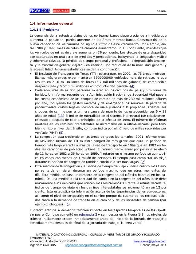 Manual administración y operaciones autopistas fhwa 2003