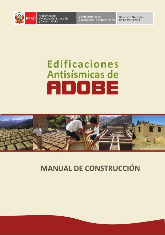 Viceministerio de Construcción y Saneamiento Dirección Nacional de Construcción Ministerio de Vivienda, Construcción y San...