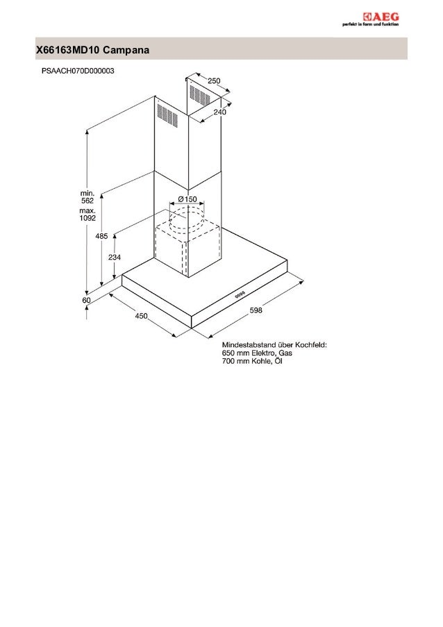 Manual aeg campana x66163md10